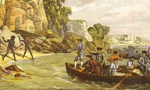 Captain Cook's landing in Botany Bay, Australia